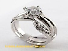 Wedding Engagement Ring 3.6 Carat Cubic Zirconia Rhodium Plated Center Lifts Out
