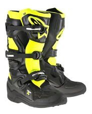 2017 ALPINESTARS TECH 7S YOUTH KIDS MOTOCROSS ENDURO BOOTS BLACK / YELLOW FLUO