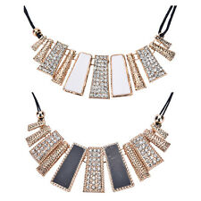 New Women Fashion Pendant Chain Crystal Choker Bib Statement Necklace Jewelry