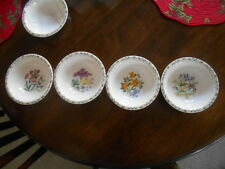 "Floral Garden Bowl 7"" Iris, Crocus, Daffodils, &/or Geraniums Thomson Pottery !"