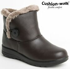LADIES Cushion Walk WOMENS CASUAL WARM FUR LINED WINTER COMFORT ANKLE BOOTS SIZE