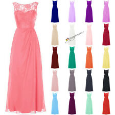 Stock New Formal Long Lace Bridesmaid Dresses Evening Prom Party Ball Gowns 6-20