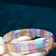 Natural Colorful Tourmaline Crystal Rectangle Beads Bracelet AAAAA