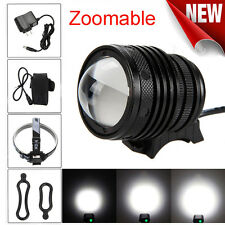 5000Lm Zoomable T6 LED Bicycle Head Light Headlamp Rechargeable +Charger Battery