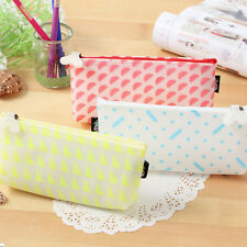 Silicone Pen Bag Student Pencil Case Cosmetic Bags Travel Makeup Bags Box