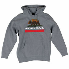 Nor Cal New Republic Pullover Hooded L/S Sweatshirt Gunmetal Heather