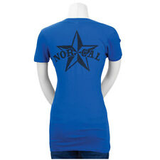 Nor Cal Nautical 2 Fitted V-Neck Juniors T-Shirt Royal Blue