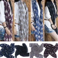 Women Lady Soft Scarves Star Print Long Voile Scarf Shawl Wrap Gifts Perfect