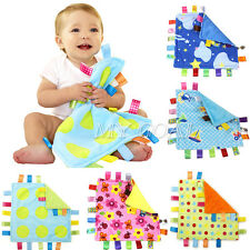 Baby Taggy Toddler Infant Plush Blanket Handkerchief Towel Comforter Toy Gift