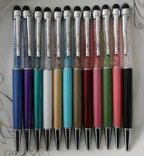 LOT Fashion glass Crystal Elements 2in1 Universal Stylus Touch Screen Pen