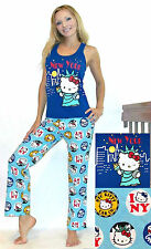 NWT Sanrio Hello Kitty Pajama Set with Statue of Liberty and New York M,L