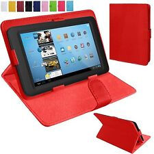 """Universal Leather Stand Folding Folio Case Cover Pouch For All 7"""" Tablets Tab"""
