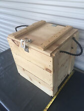 """Wooden Ammo Box Crate 15"""" x 18"""" x 18"""" New missing latch"""