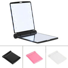 LED Lights Make Up Mirror Cosmetic Portable travel Folding Compact Pocket Mirror
