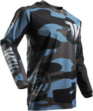 NEW THOR RACING PULSE COVERT MIDNIGHT CAMO MX ATV MOTOCROSS MENS ADULT JERSEY