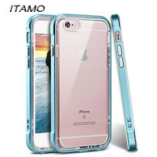 PC Frame Shock-Absorption Soft Rubber TPU Bumper Hybrid Case for iPhone