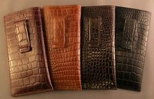 Fabulous Quality leather embossed croco pattern - Eyeglass / Glasses Case/ CLIP