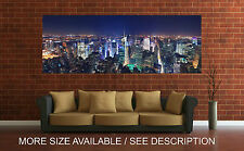 Wall Art Canvas Print Picture New York Nice Cityscape Night Panoramic-Unframed