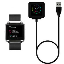 Black USB Power Charging Cable Charger For Fitbit Blaze Flex2 Force Wristband