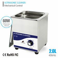 NEW 2L 60W Stainless Steel Industry Ultrasonic Cleaner Jewelry Watch Glasses CD