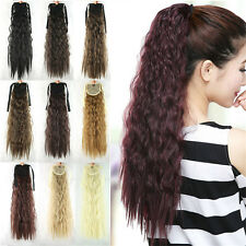 """Fashion Women Lady Girls Long Wavy Hair Curly Wigs Ponytail 21"""" Synthetic 054c"""