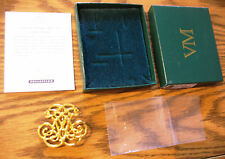 Virginia Metalcrafters Thomas Jefferson Monticello Cipher Brooch Pin New in Box