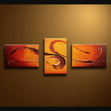 Hand-painted Triptych Modern Abstract Painting Wall Art Interior Design