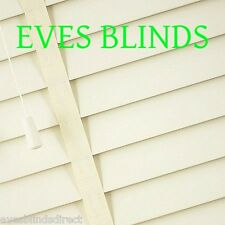 Made to measure Faux wood CREAM with TAPES Plastic venetian blinds