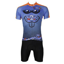 Mouse Bike Bicycle Mens Short Sleeve Set Cycling Jersey And Shorts Pant Blue Top