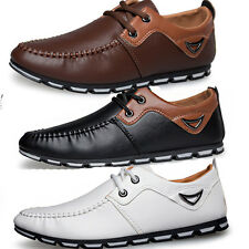New Fashion Business Mens Leather Breathable Casual Lace Up Sports Driving Shoes