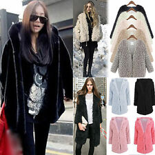 Women Winter Warm Thick Fleece Faux Fur Long Hooded Coats Parka Overcoat Jacket