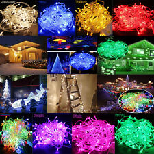 10M 100 LED Fairy Christmas Xmas Tree String Lights Party Wedding Waterproof Bar
