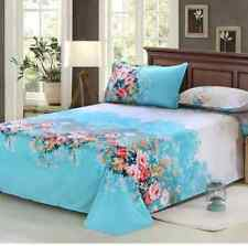 Asian Floral Home Decor Single Double Queen King Bed Cotton Blend FLAT SHEET O