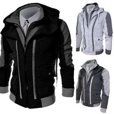 New Men Slim Collar Jackets Fashion Jacket Tops Casual Coat Outerwear Hoodies 98