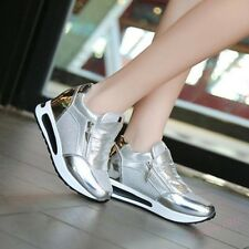 HOT Womens Shoes Fashion Sneakers Wedge Heels Sport Tennis Slip On Casual Shoes