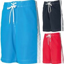 Mens Front Row Polyester Microfibre Long Board Boarding Surf Shorts