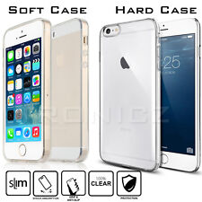 Ultra Slim Crystal Clear Hard Soft Gel Transparent Case Cover for iPhone 5 5S