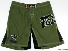 FAIRTEX MMA BOARDSHORTS -AB1-GREEN100% POLYESTER-GREAT FOR ALL SPORT/CASUAL WEAR