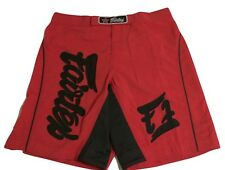 FAIRTEX MMA BOARDSHORTS - AB9- RED - 100% POLYESTER-GREAT FOR ALL SPORT/CASUAL