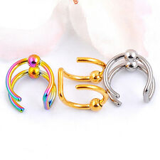 Fashion C Shaped Circle Punk Jewelry No Piercing Clip On Ear Cuff Earring Adroit