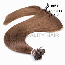 50Strands Straight Stick I Tip Remy Human Hair Extensions 20''-30'' 1g/Strand 8#