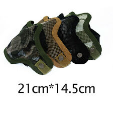 Outdoor Sports Metal Mesh Half Face Protective Mask CS Game Airsoft Military