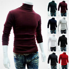 Mens Fashion Casual Turtle Neck Pullover Slim Fit Long Sleeve Tops Sweater New w