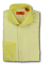 Dress Shirt Steven Land - Cutaway Spread Collar  French Cuff-Yellow-DC1224-YE