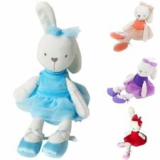 Cute Soft Smooth Bunny Rabbit Bear Sleep Appease Doll Toys Gift For Baby Girls