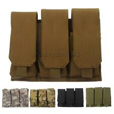 Tactical MOLLE Modular Utility 3 Magazine Mag Pouches Sundries Vest Belt Bag