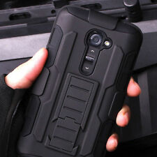 Shockproof Hybrid Armor Heavy Duty Rugged Hard Case Belt Clip Stand Cover For LG