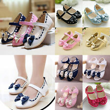 BABY GIRLS KIDS CASUAL BOWKNOT PRINCESS PARTY SHOES BRIDESMAID DRESS SANDALS