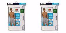 Fruit of the Loom Men's White Boxer Briefs Underwear 10-PACK M, L, XL