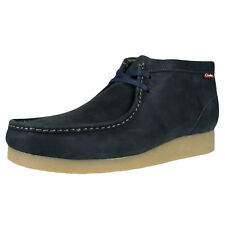 CLARKS ORIGINALS MEN'S PADMORE II LEATHER BOOTS NAVY 63365